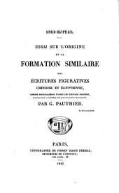 Sinico-aegyptiaca: essai sur l'origine et la formation similaire des écritures figuratives chinoise et egyptienne