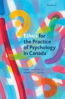 Ethics for the Practice of Psychology in Canada  Third Edition PDF