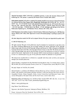 Tourism Economics PDF