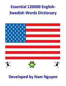 Essential 120000 English Swedish Words Dictionary Book
