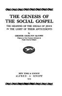 The Genesis of the Social Gospel
