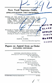 New York Supreme Court Papers on Appeal from an Order