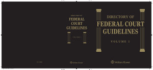 Directory of Federal Court Guidelines PDF