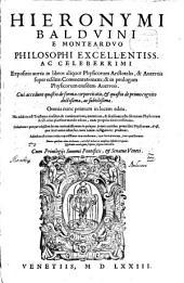 Expositio in libros aliquot Physicorum Aristotelis et Averrois super eisdem Commentationem