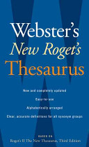 Webster s New Roget s Thesaurus  Office Edition
