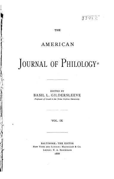 American Journal of Philology PDF