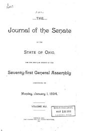 Journal of the Senate of the ... General Assembly of the State of Ohio ...