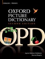 Oxford Picture Dictionary English French Edition  Bilingual Dictionary for French speaking teenage and adult students of English PDF
