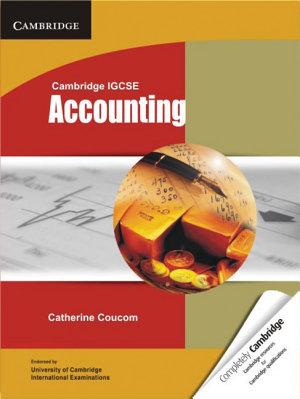 Cambridge Igcse Accounting Student S Book
