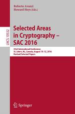 Selected Areas in Cryptography – SAC 2016