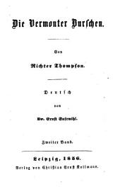 Die Vermonter Burschen: Von Thompson. Deutsch von Ernst Susemihl, Band 2