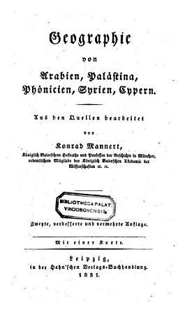 Geographie der Griechen und R  mer aus ihren Schriften dargest  2  Aufl PDF