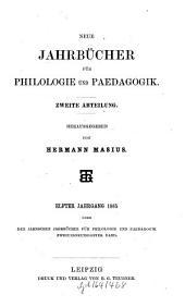 Neue Jahrbücher für Philologie und Pädagogik: Band 92