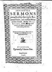Frutefull Sermons, etc. B.L.
