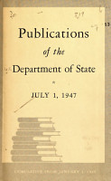 Publication of the Department of State PDF