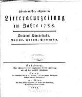 Oberdeutsche  allgemeine Litteraturzeitung  etc   PDF
