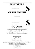 Whitaker's Books of the Month & Books to Come