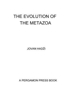 The Evolution of the Metazoa