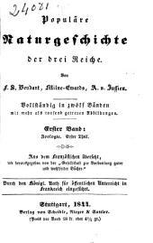 Die Zoologie: Bd: Anatomie und Physiologie. I. Theil (190 p.)