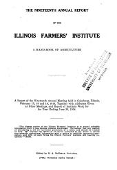 Annual Report of the Illinois Farmers' Institute: Volume 19