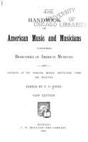 A Handbook of American Music and Musicians PDF