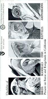 Checklist of birds, mammals, fish, reptiles, amphibians, present on forest and rangelands in California