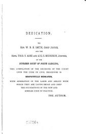 The Code of Civil Procedure of North Carolina: With Notes and Decisions to 1884