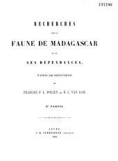 La Faune de Madagascar et de ses dépendances: Volume2