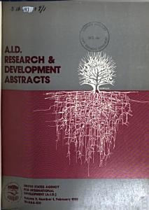 A I D  Research and Development Abstracts