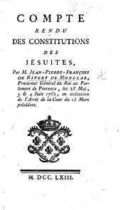 Compte rendu des Constitutions des Jésuites, etc. (Notes indiquées dans le compte rendu, etc.)