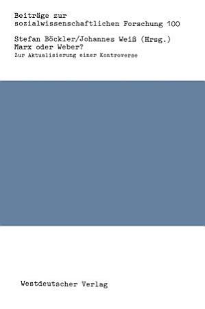 Marx oder Weber  PDF