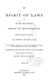 The Spirit of Laws: Volume 2