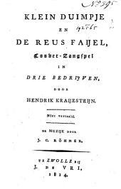 Klein Duimpje en de reus Faijel: toover-zangspel, in 3 bedrijven : niet vertaald