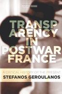 Download Transparency in Postwar France Book