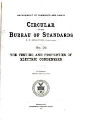 Circular of the Bureau of Standards: Issues 36-50