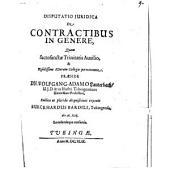 De contractibus in genere