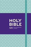 NIV Pocket Mint Polka-Dot Notebook Bible