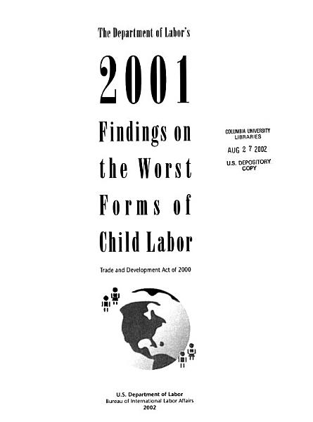 The Department of Labor s     Findings on the Worst Forms of Child Labor PDF