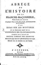 Abrégé de l'histoire de la franches-maçonnerie