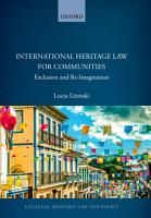 International Heritage Law for Communities PDF