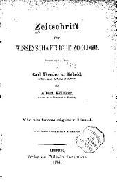 Zeitschrift für wissenschaftliche Zoologie: Band 24