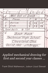 Applied Mechanical Drawing for First and Second Year Classes in High Schools ...