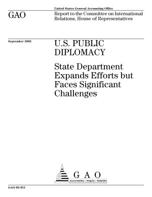 U S  public diplomacy State Department expands efforts but faces significant challenges   report to the Committee on International Relations  House of Representation  PDF