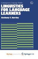 Linguistics for Language Learners