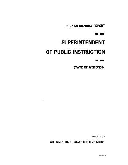 Biennial Report of the Superintendent of Public Instruction of the State of Wisconsin PDF