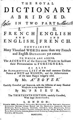 The Royal Dictionary Abridged PDF