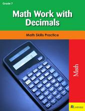 Math Work with Decimals: Math Skills Practice