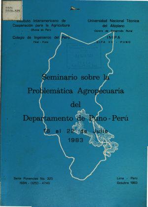 Seminario Sobre la Problematica Agropecuaria Del Departanento de Puno   Peru PDF