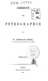 Lehrbuch der Petrographie: Band 1