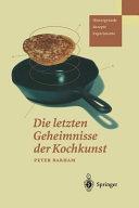 Die letzten Geheimnisse der Kochkunst PDF